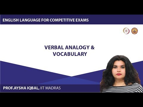 Module Four - Lecture 19 - Verbal Analogy & Vocabulary