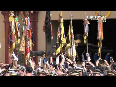 Semana Santa Málaga 2017 - Traslado del Cristo de la Buena Muerte (Mena) Desembarco de la Legión