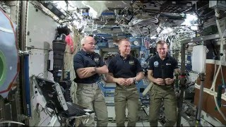 Space Station Astronauts Talk about Life in Orbit