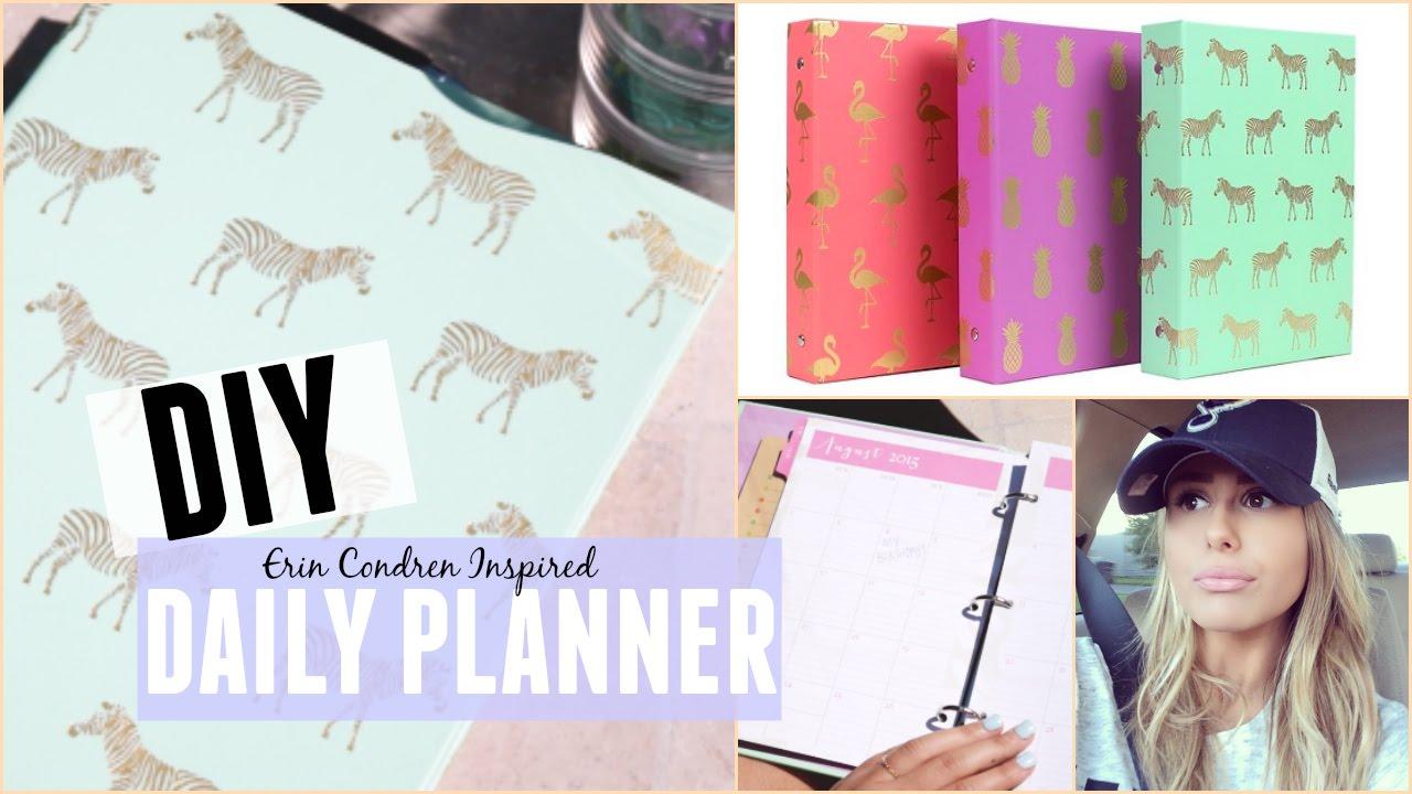 Diy daily planner on a budget youtube solutioingenieria Choice Image