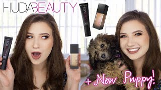 HUDA BEAUTY FAUX FILTER FOUNDATION + PRIMER REVIEW   + My New Puppy!