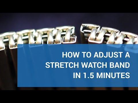 Adjust your stretch watch band in 1.5 minutes