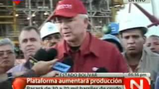 Histórico: Presentan primera Plataforma Petrolera para crudo y gas fabricada en Venezuela