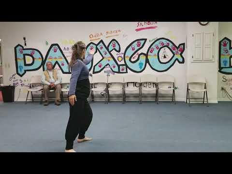 French visitors interpretive dance at Osage Nation Language Department