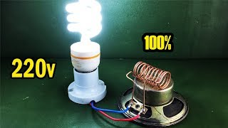 New Experiment Technology Free Energy Science Electric Using Magnet With Light Bulb 220v
