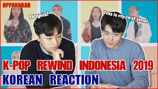 Download lagu [Reaksi] Korean reacts to  K-POP REWIND INDONESIA 2019 🇲🇨