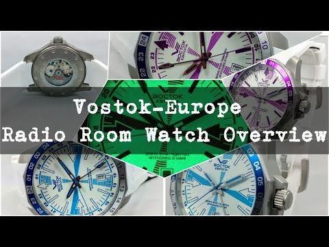Blue and purple Radio Room watches from Vostok-Europe