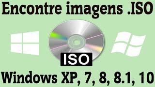 Como encontrar imagem .ISO para instalar o Windows 7 / 8 / 8.1 / 10 / XP