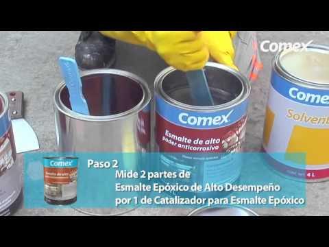 Esmalte epoxico youtube for Pintura para pisos colores