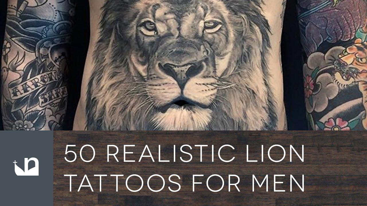 50 Realistic Lion Tattoos For Men Youtube