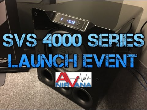 SVS 4000 Series (PB-4000, SB-4000) Subwoofer Overview and Launch Event!