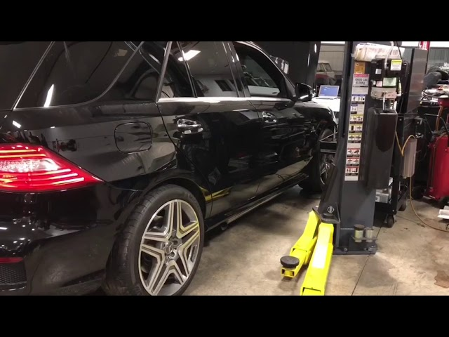 M157 ML63 AMG with backfire burbles at fluid motorunion