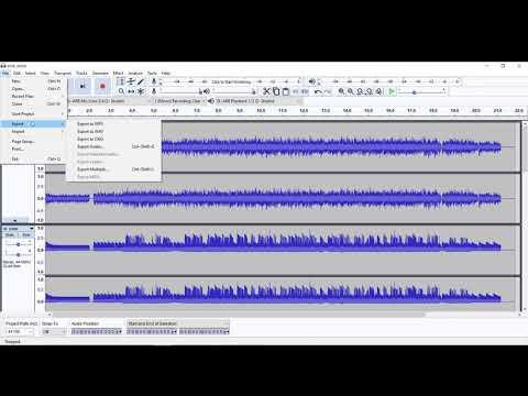 Audacity MP3 to WAV Conversion FREE
