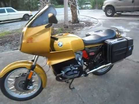 1978 bmw r100rs airhead gold metalic youtube. Black Bedroom Furniture Sets. Home Design Ideas
