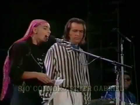 Peter Gabriel & Sinéad O'Connor - Don't Give Up (Chile, 1990)