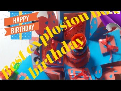 Gift idea/Explosion box for friend/Surprize box/ Handmade Explosion box