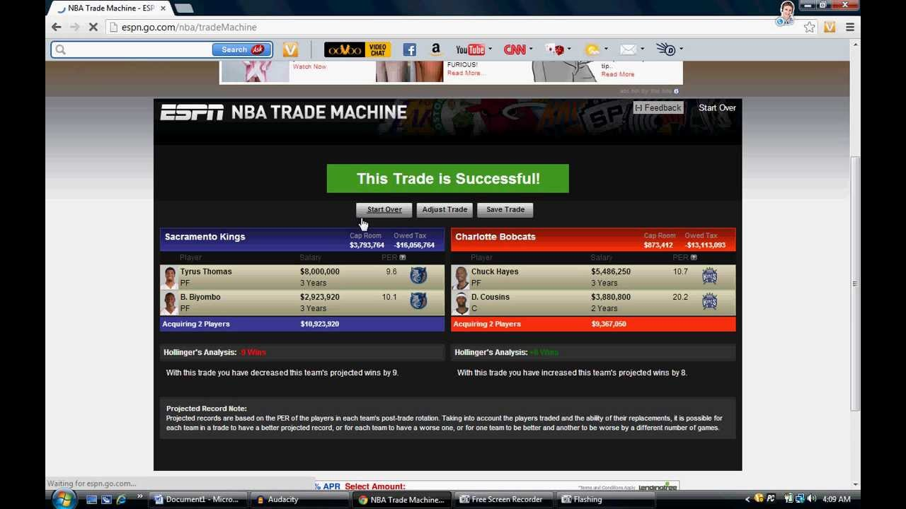 nba trade machine with sign and trade