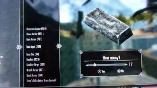 Skyrim Fastest way to level Blacksmithing without buying any materials