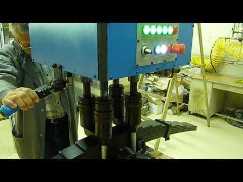 Цикл работы 4-х шпиндельной установки (УРАЛаз стремянки)