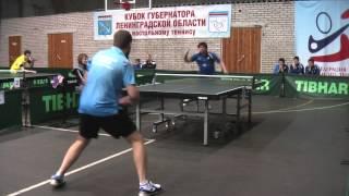 Настольный теннис.Иванов Никита(Спб) - Бриль Владимир(Сиверский)