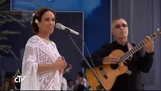 "Noa (Achinoam Nini) performs ""Beautiful that Way"" to welcome Pope Francis"