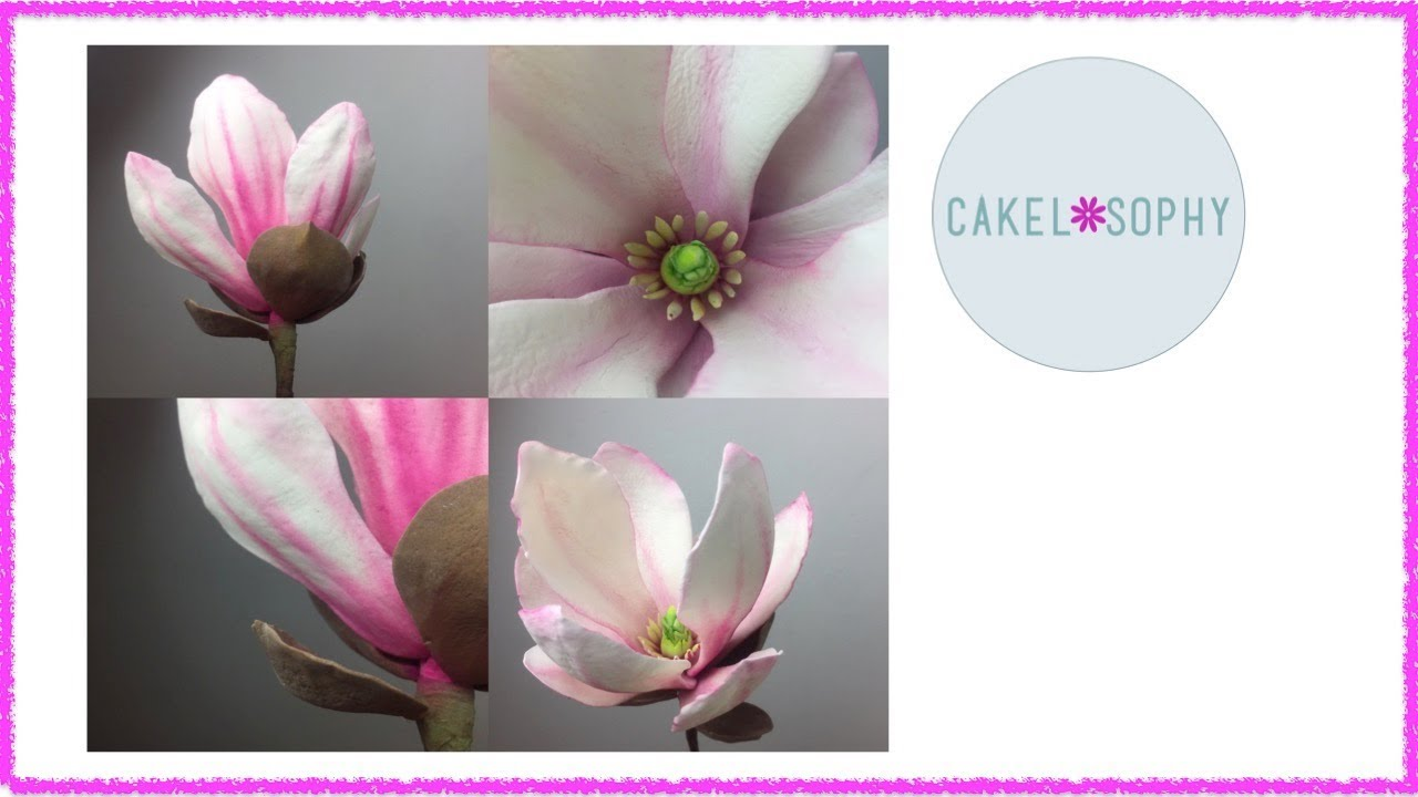 How To Make Gumpaste Magnolia Flower Easy With A Right Tutorial