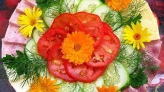 Красивые нарезки из овощей - идеи салатов и овощных нарезок