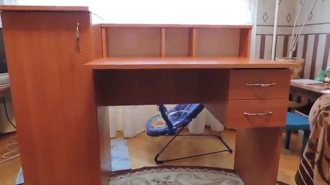 Компьютерный стол из дерева. ч.1 - YouTube