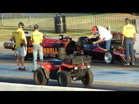 K.C. Jones and his Cannonball Express Jet car. Thunder Jam 2011. Thunder Valley Oklahoma.