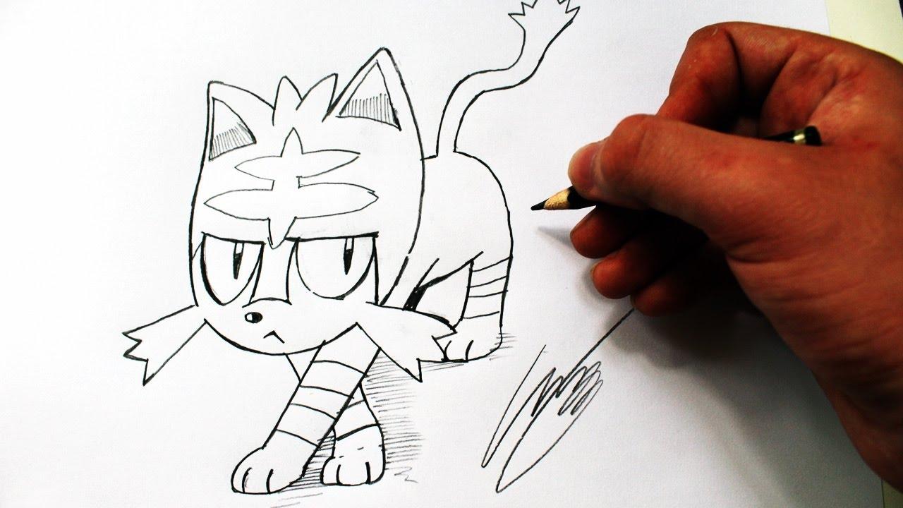 Como Desenhar Litten Pokemon Sun E Moon How To Draw Litten