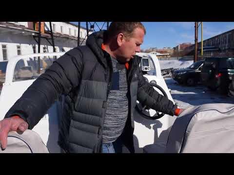 Видеообзор комбинированного катера с каютой Неман 500 от компании Вятбот