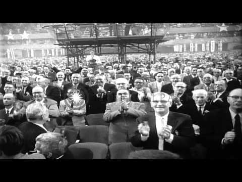 The 1956 Democratic National Convention in the International Amphitheatre, Chicag...HD Stock Footage