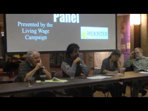 College of Wooster Living Wage Panel 2015 pt 1