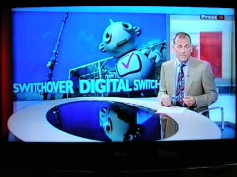 BBC1 Look North-North East & Cumbria News Analogue Switch-Off 11/09/2012 Digital Switch-Over