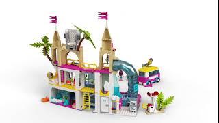 LEGO Friends Summer Fun Water Park Set Kids Building Toy Kit w// Mini Doll Figure