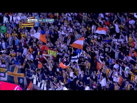 La Liga | Gol de Viera 1-0 en el Valencia CF - RCD Espanyol | 17-11-2012 | J12