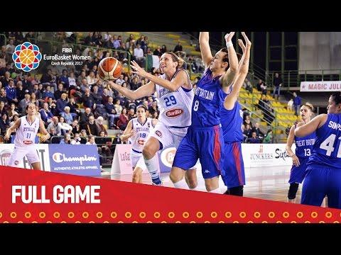 Italy v Great Britain - Full Game - Qualifier - EuroBasket Women 2017