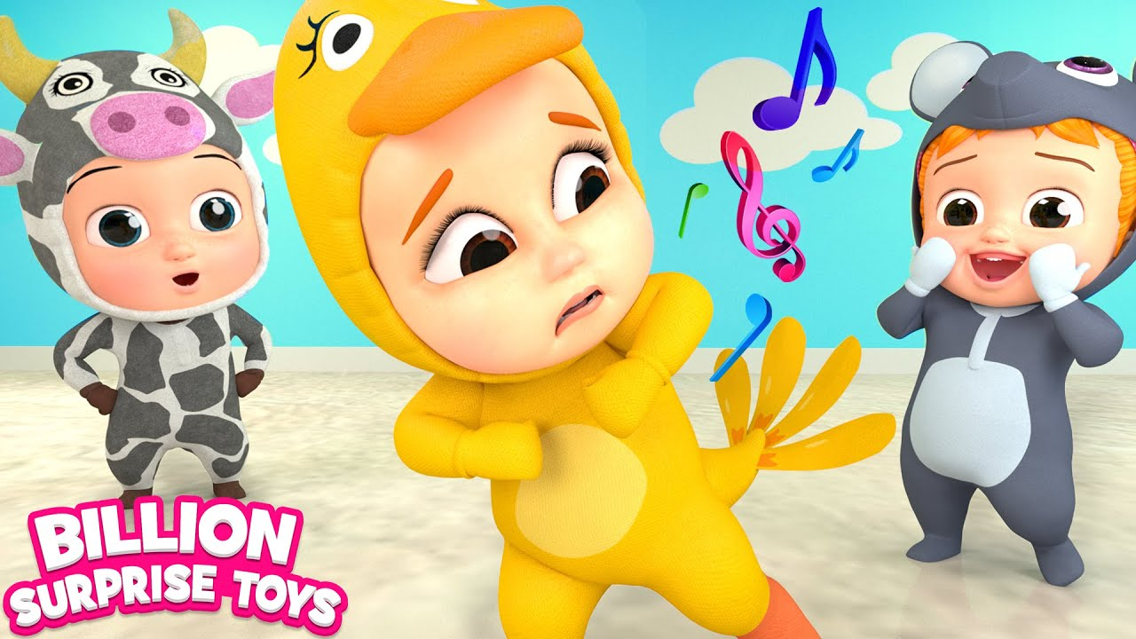 Learn Animals and Sounds | Kindergarten Song | Billion Surprise Toys