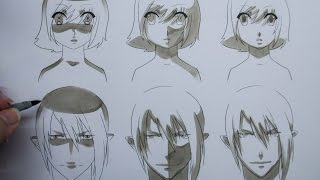 How To Draw Manga: Shading Manga Faces Three Different Ways