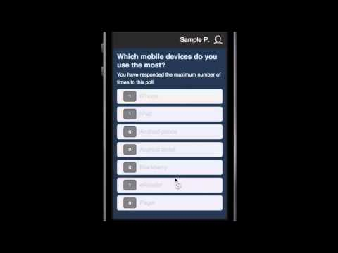 Poll Everywhere (PollEv) Mobile Voting