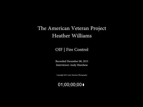 Heather Williams   OIF   Fire Control -- Uncut