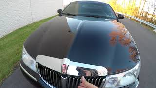 4K Review 2000 Lincoln Town Car Black Virtual Test-Drive and Walk-around