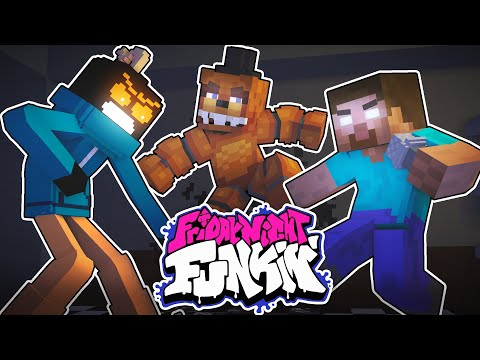 Monster School : FRIDAY NIGHT FUNKIN but Mobs vs FNAF & Whitty - Minecraft Animation