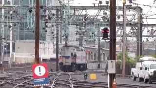 Amtrak Train 20 Washington Union Station Power Change Montage