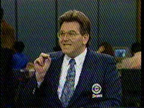 Jim Nantz and Mike Francesa after Tate George shot 1990