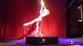Arlene Caffrey guest performance at Pole Dance Ireland Princess Competition 2018