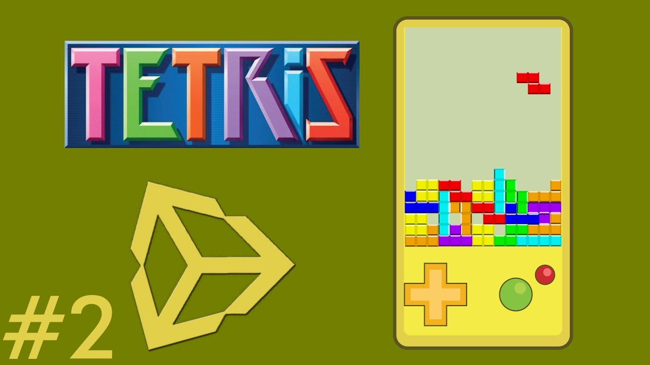 1 - Unity Game Development - Create A Tetris Game - Game Preview - Unity  Tetris Game Tutorial