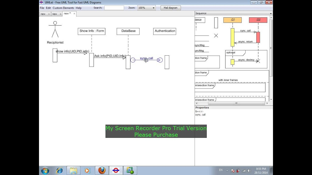 Umlet tutorial for contextuse case and sequence diagrams youtube ccuart Image collections