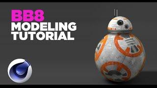 BB8 star wars 3D MODELING TUTORIAL CINEMA 4D