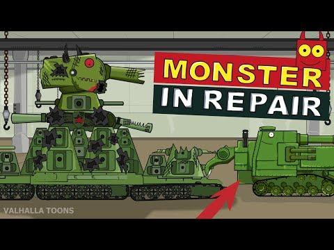"""""""Monster in Repair"""" Cartoons about tanks"""